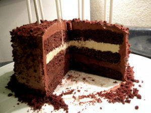 Chocolate 3-Layer Birthday Cake