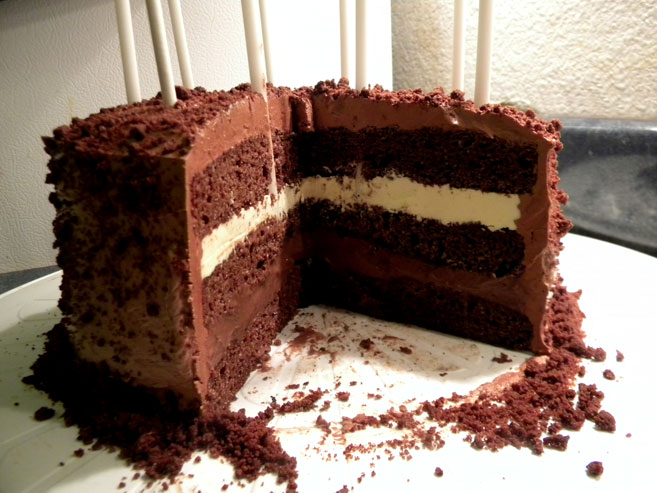 3-Layer Chocolate Cake with Buttercream Frosting